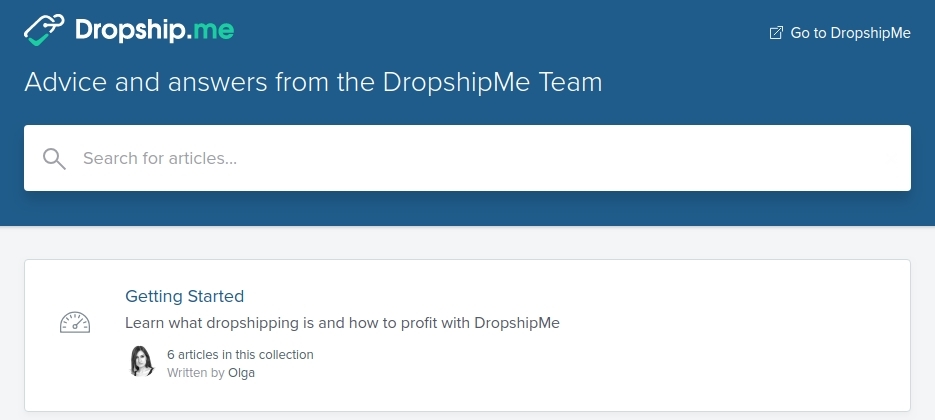 dropshipme-help-center